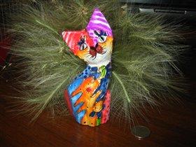 Котик из папье-маше
