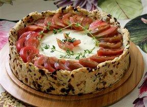 Пирог с козьим сыром
