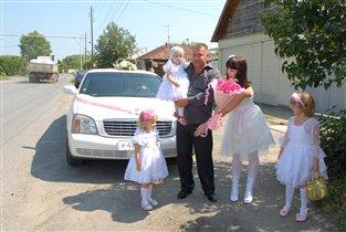 Наша счастливая семья) Мама, папа, дочки