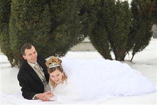 Снежное брачное ложе!!!!