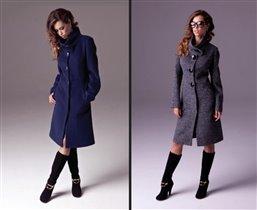 Пальто  цвет черный р. 44 шерсть цена 2185 руб