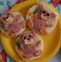 Веселенькие бутербродики!