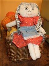 кукла ручной работы для дочки Даши
