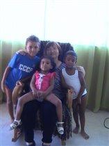 я с внуками