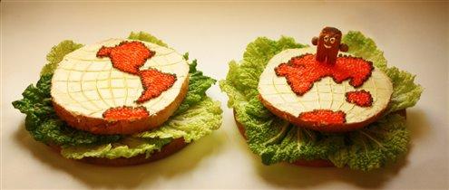 Бутерброд шагает по планете