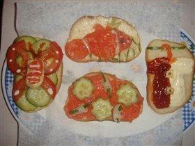 Весёлые бутерброды:)
