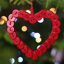 Новогодние подарки и украшения для дома из пуговиц