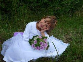 Моя дочка в день нашей свадьбы