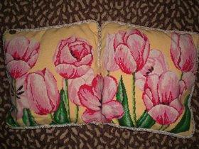 Вышитые подушки 'Богатство осени'