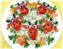 Забавные бутерброды 'Весёлая коровка' :)