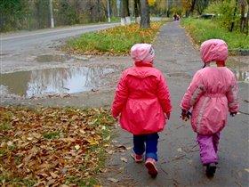 Мы оделись потеплей и пошли гулять скорей!