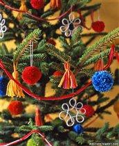 Новогодние поделки для украшения дома из клубков