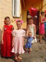 Мои три принцессы и мой маленький принц.