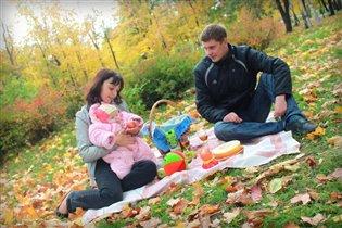Осенний пикник в кругу семьи!