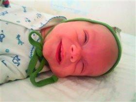 первая улыбочка мамуле в день её рождения!