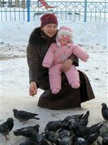 Зимние голубки