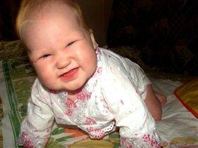 еще без зубов,но уже улыбаюсь!..