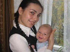 Первая улыбка моего сыночка в 2 месяца!!!