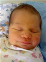 Первая улыбочка 3дня моей доченьки Дианочки!