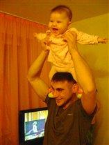 Плюша с папой