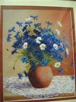 Васильки в вазе (Чарівна мить) - крупнее