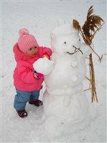 Первый снеговик