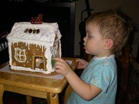 Вкусный подарок на Рождество. Пряничный домик.