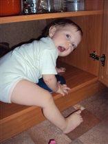 Ааааааааа,мама,я ещё не успела спрятаться!!!