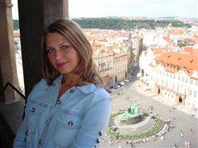 прекрасная панорама на Вацлавскую площадь. Прага!