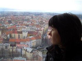 Вид на Прагу с телебашни