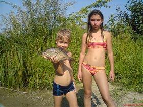моя первая рыба!
