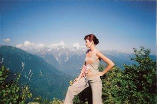 Я на горе Ачишхо на фоне Большого Кавказского хреб