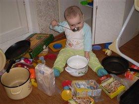 Мамуль, я тут супец сварганил, иди оцени! -)))
