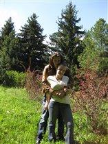 мы пошли с мужем в дендросад в г. Переславль