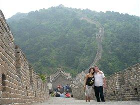 на Великой китайской стене. 80 км от Пекина