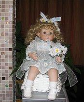 кукла с ромашками