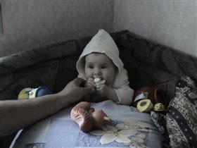 Кира, соска и дед