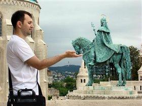 Будапешт.Рыбацкий бастион. Памятник св. Иштвану