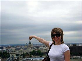 Будапешт. Вид на дворец Грешема