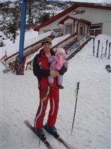Первый горнолыжный спуск в 8 месяцев