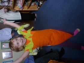 костюм морковки для племянницы