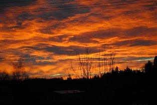 закатное небо октября