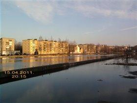 Половодье на реке Ловать.