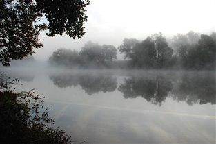 Туман над озером любви!