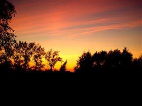 Закат из нашего окна...