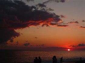закат в Лоо (Сочи)