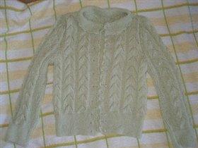 Кофточка из мериносовой шерсти с шелком
