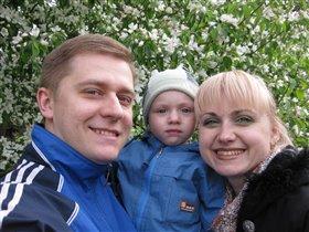 Отдых в парке семьей