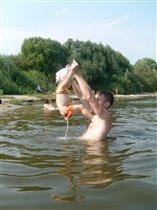 акробатические этюды на воде