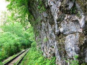 Железная дорога в Гуамском ущелье